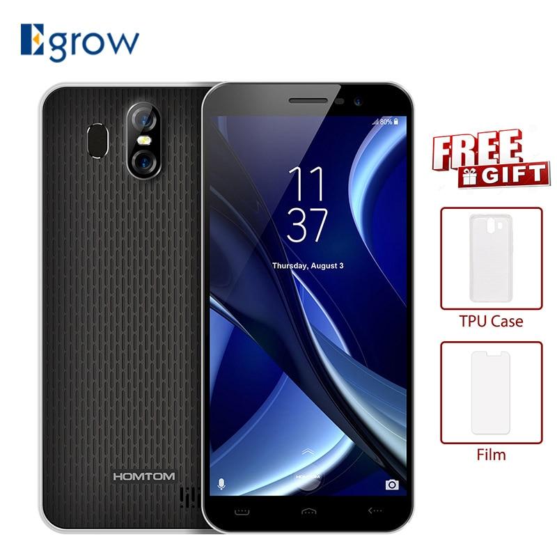 HOMTOM S16 5.5Inch 18:9 Edge-Less Display Android7.0 Smartphone 3000mAh 2GB RAM 16GB MT6580 Quad Core 13MP Fingerprint Cellphone