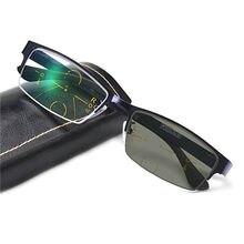 d1d42509f1 Gafas multifocales transición fotocrómica gafas de lectura para hombres  protección UV Multifocal progresiva con dioptrías gafas .