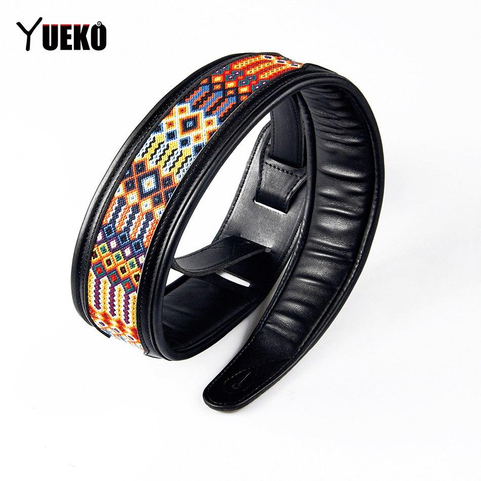 Nouveau bracelet de guitare en cuir Yueko sangle en métal Durable et lourd/accessoires guitare acoustique/basse/guitare basse