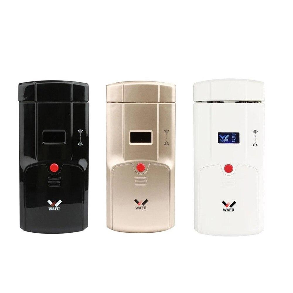 WAFU HF-011A contrôleur de verrouillage intelligent Bluetooth activé empreinte digitale et écran tactile sans clé serrure intelligente pêne dormant avec alarme intégrée
