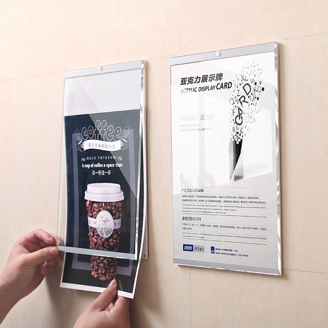 Aliexpress Buy A3 Wall Mount Self Adhesive Magnetic Acrylic