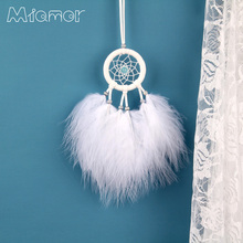 MIAMOR MINI White Dreamcatcher Wind Chimes Bag & Car Hanging Decor Accessories Best Gift For Girlfriend Necklace Lady Amor07
