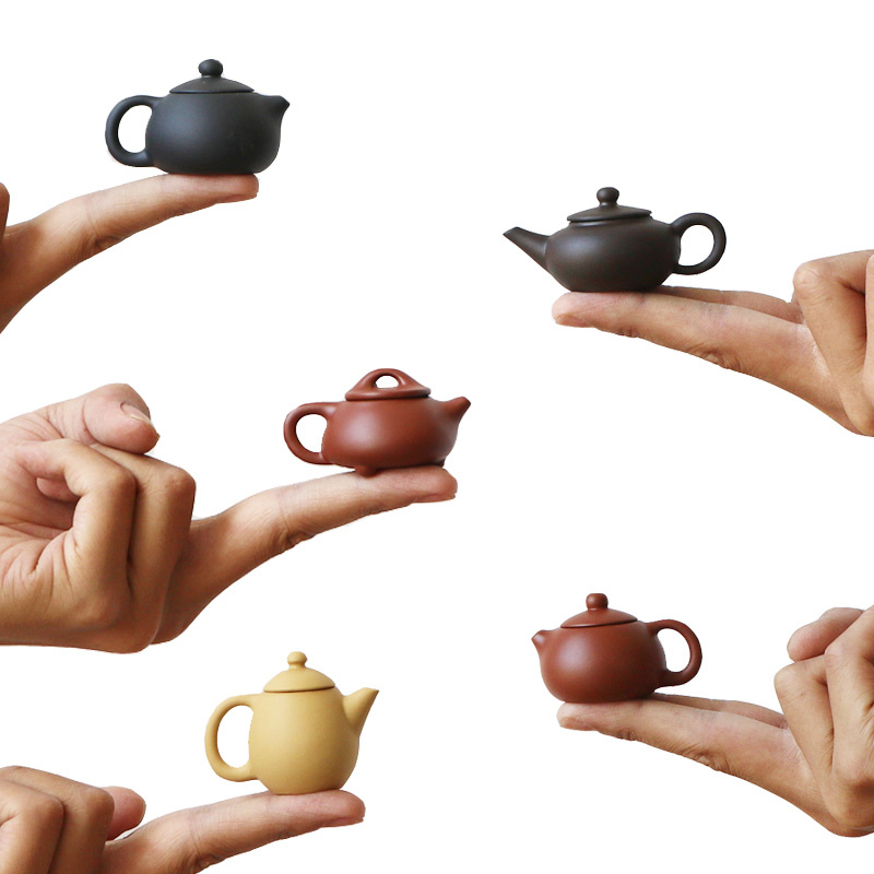 20 30ml Mini Purple Clay Tea Pot Pottery Yixing Cup Anese Red Teapots Pet Doll Set On The Fingertir