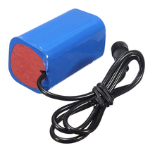 Rechargeable Battery Pack 8.4v 6000mAh Bicycle Headlamp + Case 4 2v 6000mah 4 x 18650 battery pack for bicycle headlamp blue silver