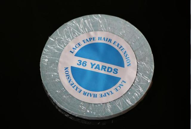 5rolls/lot  1cmx 36 yards long time water proof  tape Super quality blue tape  hair extension tape  hair tape