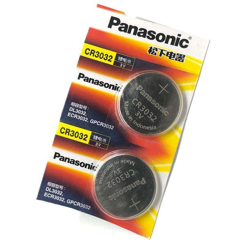 2 pcs/lot Panasonic CR3032 CR 3032 DL3032 ECR3032 3V Lithium voiture clé télécommande électrique alarme bouton pile bouton pile