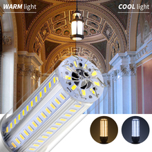 Led Bulb E27 Corn Lamp 220V Ampoule E26 110V 5730 Light 25W 35W 50W High Power No Flicker Lighting 85-265V Fan Cooling