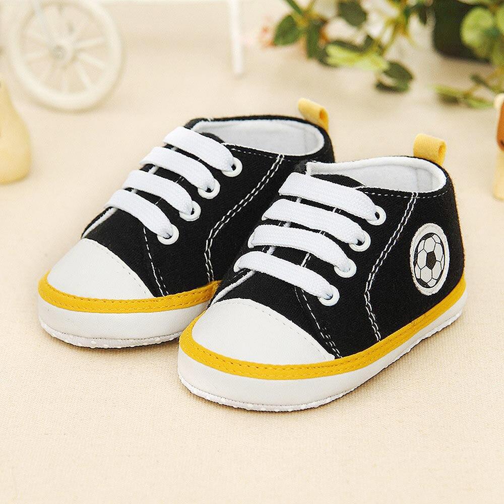 Newborn Shoes Infant Baby Football Print Sneaker Anti-slip Soft Sole Toddler Shoes Bebek Ayakkabilari2.441