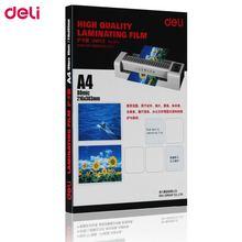 Ламинаторная пленка deli 8c a4 Толстая фотопленка пластиковая