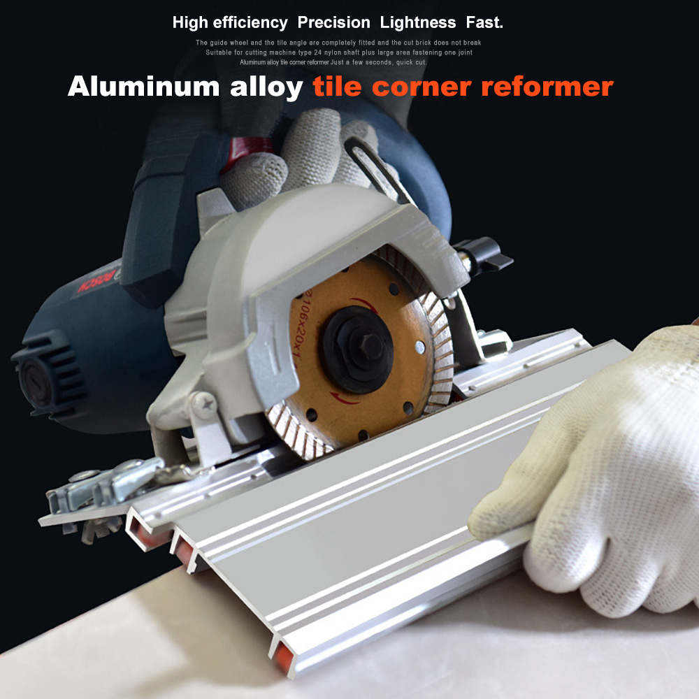 Newly Tile 45 Degree Angle Cutting Helper Tool Aluminum Alloy Multifunctional Accessories DAG-ship Free Shipping