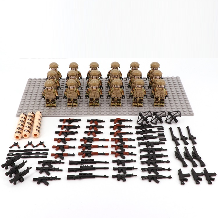Image 4 - Desert US Special Forces Army military weapon accessories DIY mini figures Building Block Brick original mini figures toys-in Blocks from Toys & Hobbies