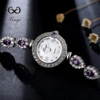 2018 Xinge Brand Women Dress Bracelet Watch Zircon Diamond Silver Jewelry 30m Waterproof Wrist Watches Ladies