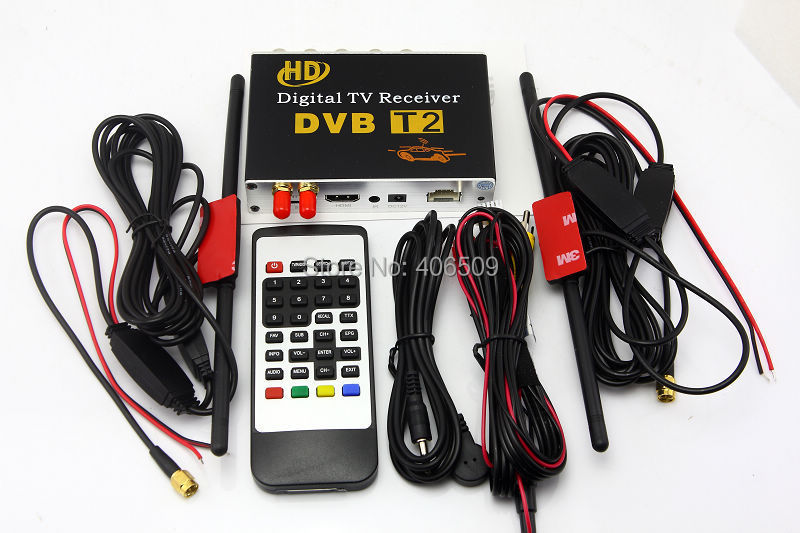 dvb t2 hd car digital tv tuner dvb t2 receiver box mobile. Black Bedroom Furniture Sets. Home Design Ideas
