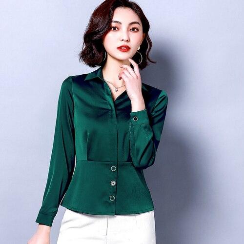 Kadın Giyim'ten Bluzlar ve Gömlekler'de INF kadın kıyafetleri 2019 fırfır bluz camisas mujer'da  Grup 1