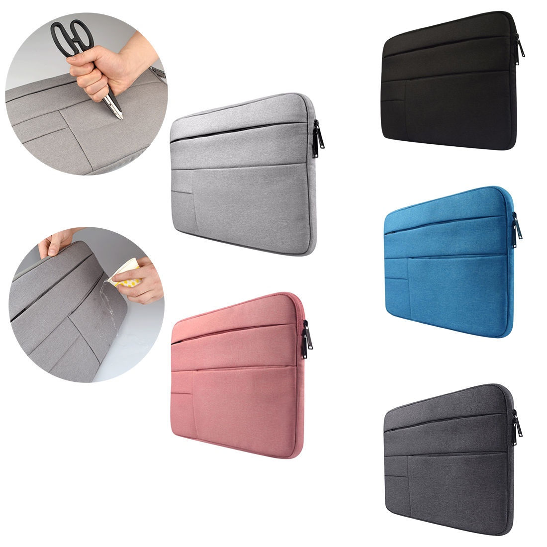 Laptop Sleeve bag for Dell Asus Lenovo HP Acer Computer 11 12 13 14 15 inch for Macbook Air Pro Notebook 15.6 Sleeve Case Simple-in Laptop Bags & Cases from Computer & Office