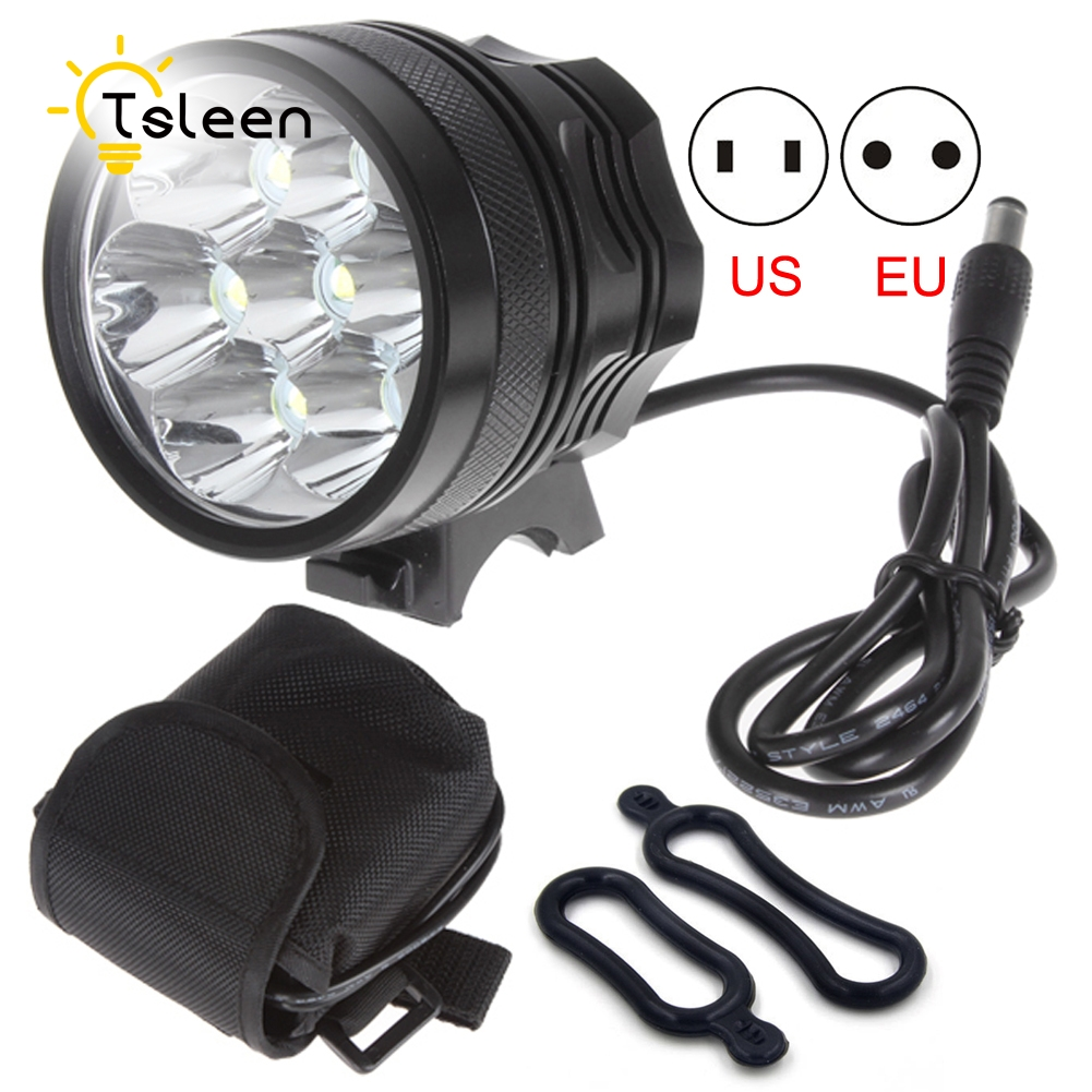 Cheap 49% off 7*XM-L T6 8400 Lumens Mountain Cycling Bike Headlamp LED Bicycle Light Pack 15000lm 2x xm l t6 led cob rechargeable 18650 headlamp head light torch lamp outdoor bicycle bike cycling accessories oct 11