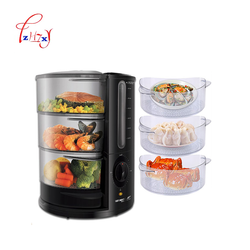 Electric Steamer 3Layers 9L Cooking Steamers Food Vegetable Meat Egg rice Dish Basket Cooker Steamer JET-901 ...