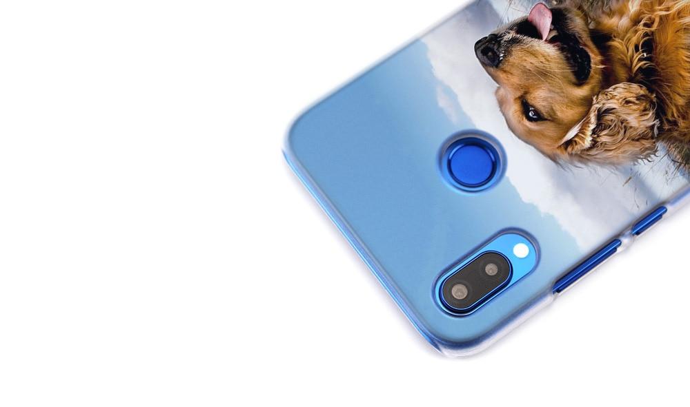 BINYEAE Golden Retriever dog art Transparent Hard Case Cover Coque Shell for Huawei P20 Lite 10 Lite P Smart