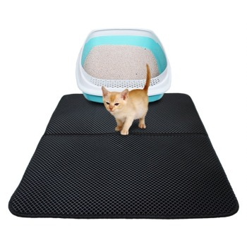Waterproof Pet Cat Litter Mat EVA Double Layer Cat Litter Trapping Pets Mat Pad Bottom