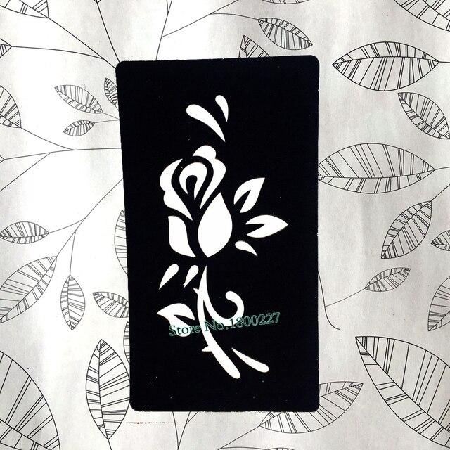Indian Henna Flower Hollow Tattoo Stencils Mehndi Waterproof Fake