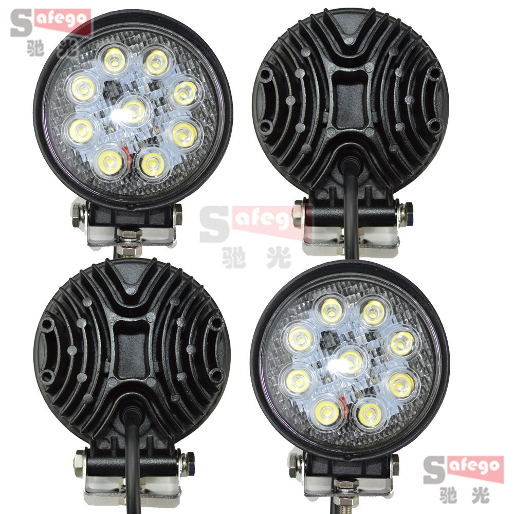 """27W LED WorkLight 4 inch"""" Inch12V 24V Spot Flood Lamp for Motorcycle Tractor Truck Trailer Off roads Boat 4WD 4x4 Work Light"""""""