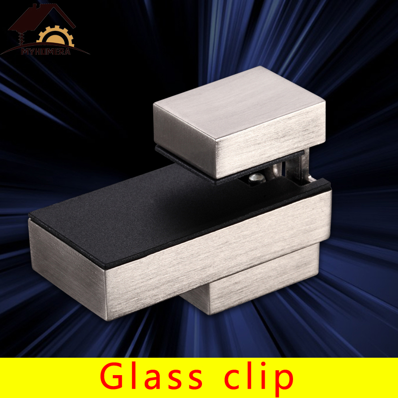 Myhomera Adjustable Glass Clamps F Clamp Shelves Holder Corner Bracket Zinc Alloy For 5-20mm Load 15kg Glass Clips Large,Small