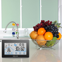 WirelessDigital LCD Thermometer Hygrometer weather station Clock Temperature Humidity meter tester Touch Button+ Outdoor Sensor