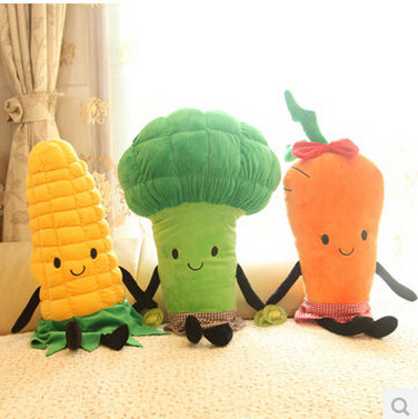 1pc 40cm Cute Vegetable Plush Pillow Carrot Broccoli Corn Cabbage Plush Cushion Creative Birthday Gift Kids Toy 1pc 65cm cartion cute u shape pillow kawaii cat panda soft cushion home decoration kids birthday christmas gift