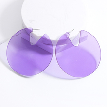 Colourful Transparent Bohemian Round Big Earrings 2019 Fashion Jewelry Statement Geometry Acrylic for Women