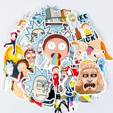 35Pcs bag American Drama Rick and Morty Funny Sticker decal fridge skateboard cut doodle sticker toy