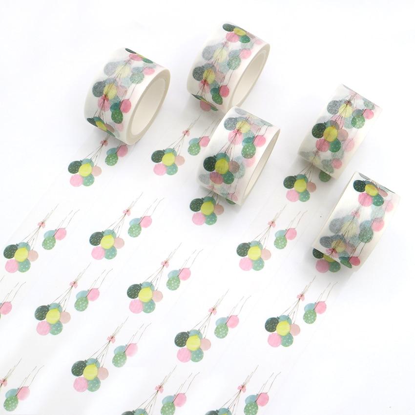 36 Sample Washi Tape or Full Roll Birthday Balloons Washi Tape Washi Tape Colorful M571