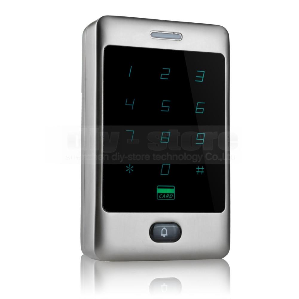 DIYSECUR Tasto di Tocco di 125 khz lettore di Schede di Rfid Porta Sistema di Controllo di Accesso Password Tastiera C30DIYSECUR Tasto di Tocco di 125 khz lettore di Schede di Rfid Porta Sistema di Controllo di Accesso Password Tastiera C30