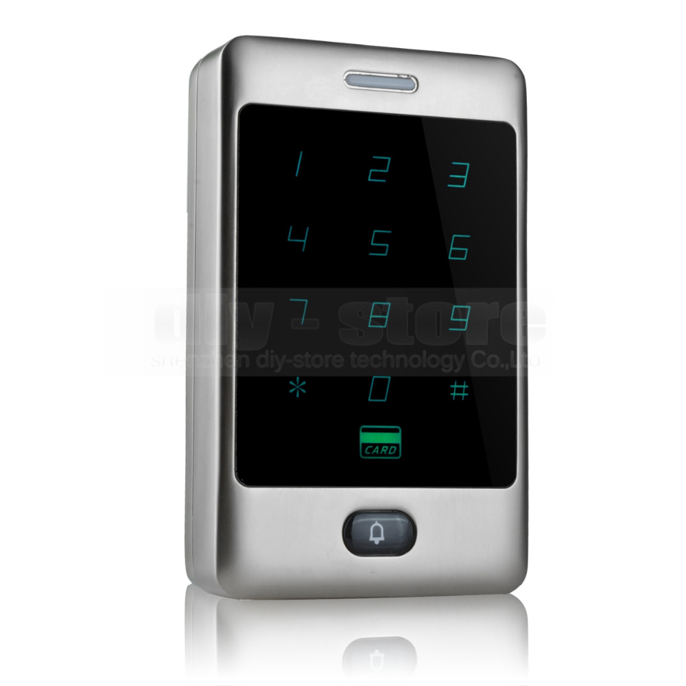 DIYSECUR Touch Button 125KHz Rfid Card Reader Door Access Controller System Password Keypad C30 diysecur lcd 125khz rfid keypad password id card reader door access controller 10 free id key tag b100