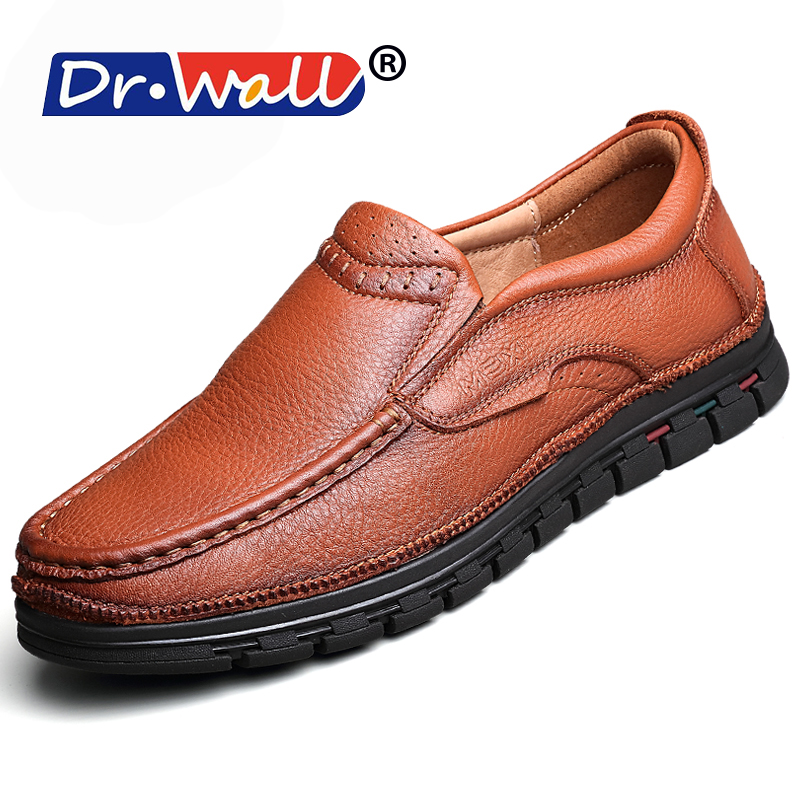 Canvas Shoes Men Fashion Limited Big Size Quality Genuine Leather Men Casual Shoes Italian Dress For Classic Male Moccasins