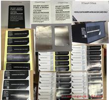 500 Stks/partij Universele Mobiele Seal Label Sticker Voor Samsung Galaxy Europese Azië Sim kaart Alleen Middlee Southe