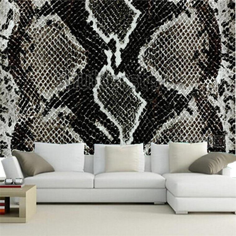 The Custom 3D Murals Snake Skin Reptile Paper Papel De Parede,living Room Sofa Wall Bedroom Wall Paper