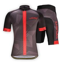 Lixada набор мужской одежды для велоспорта быстросохнущая футболка с короткими рукавами для велосипеда Джерси Топы 3D подушки мягкие шорты для езды колготки брюки