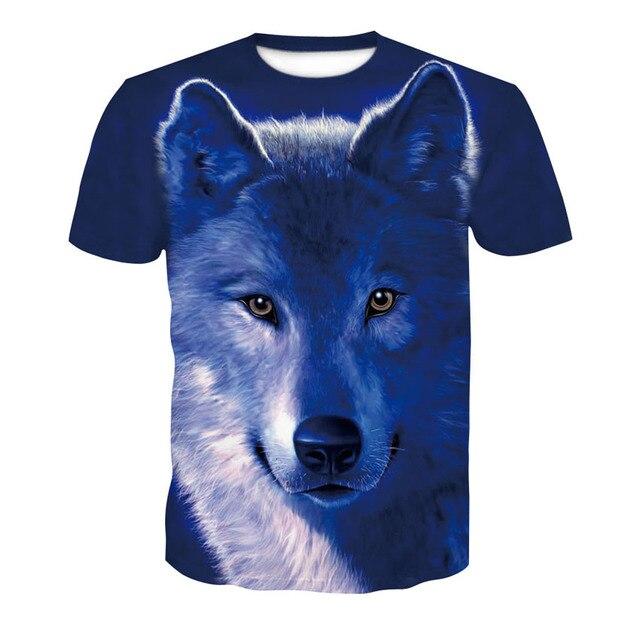 2018 new skull 3D T Shirt Summer Mens Fashion Tops Male Print harajuku wolf Men Women casual Anime T-Shirts dropshipping 3