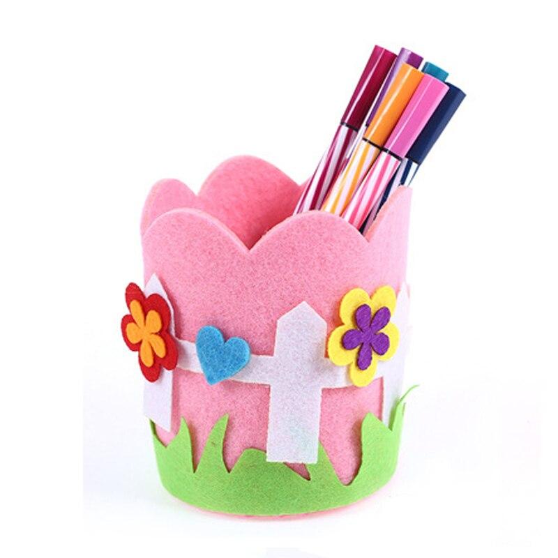 WANGE детей раннего детства Развивающие игрушки для детей ручной работы карандашница милые корабля DIY Kit контейнер ручки Игрушки для маленьки...