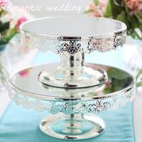 6pcs/lot Free Shipment Wedding Metal Silver Cake Cake Fruit Plate Dessert Table Decoration Wedding Party Baking Tray Decorations