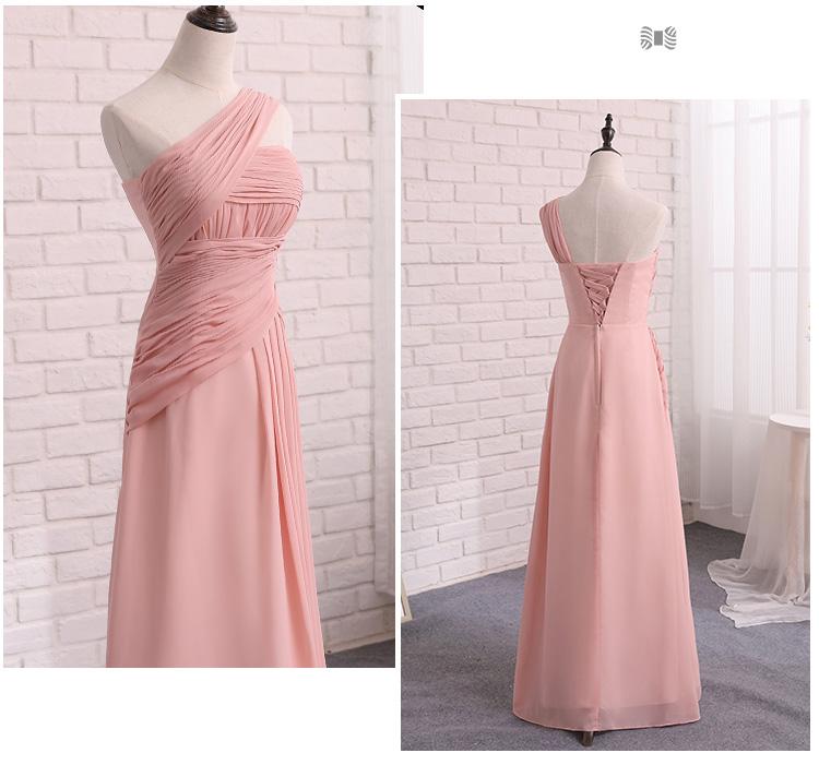 Robe De Soriee Elegante Longo Rosa Vestido Da Dama de Chiffon ... 23bf9926cbcd