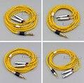 Золото 8 ядер 2 5 мм 3 5 мм 4 4 мм сбалансированные чистые посеребренные наушники с медным покрытием кабель для Sennheiser HD800 D1000 HD800s LN006093