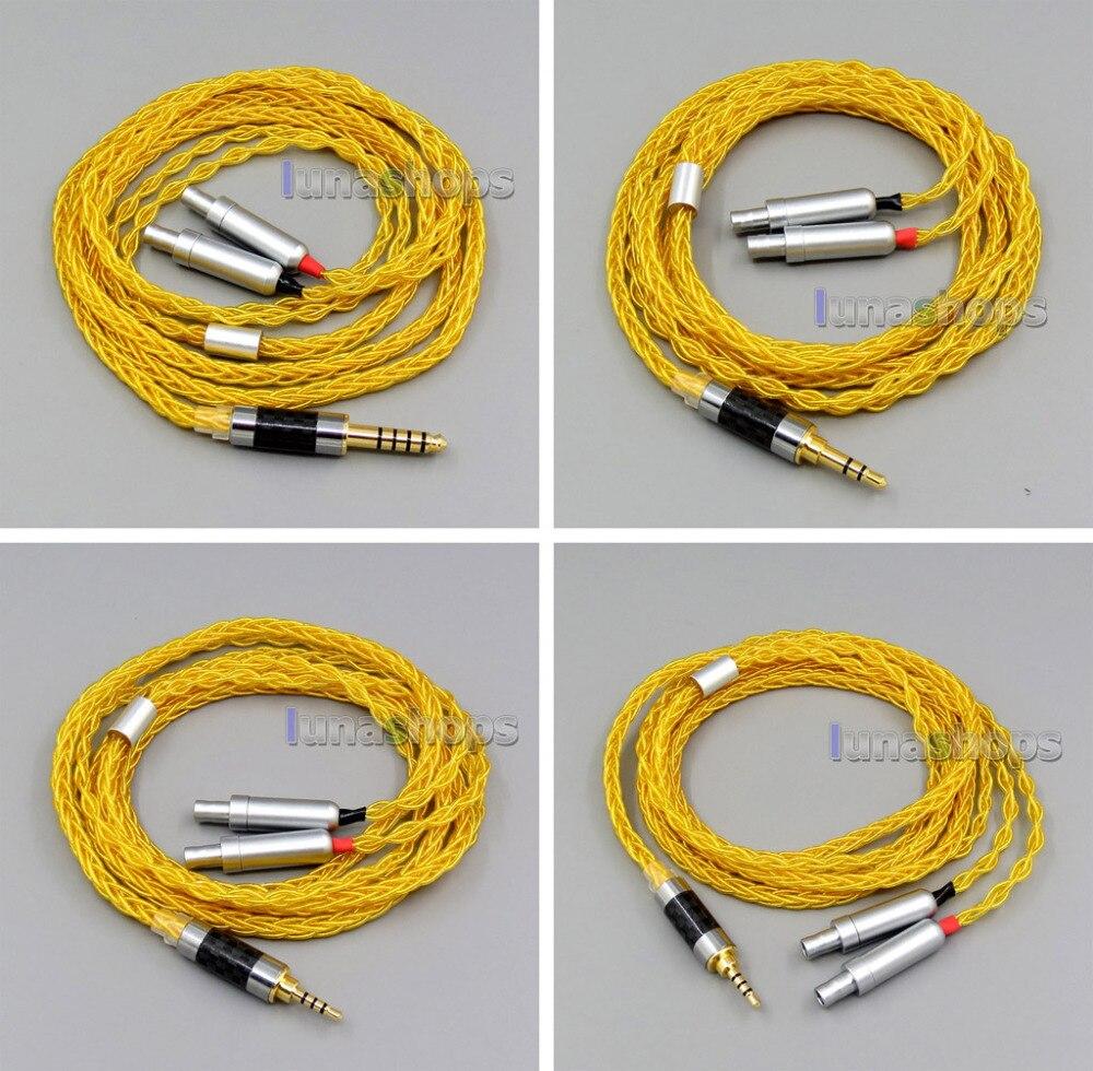 ゴールド 8 コア 2.5 ミリメートル 3.5 ミリメートル 4.4 ミリメートルバランス純銀メッキ銅イヤホンケーブルゼンハイザー HD800 D1000 HD800s LN006093  グループ上の 家電製品 からの イヤホン用アクセサリー の中 1