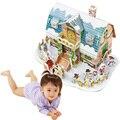 O mais novo Modelo de Arquitetura Quebra-cabeças 3D de Papel Brinquedos Educativos Natal do boneco de neve Crianças que Aprendem Educação Pai-Filho