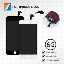 Klasa AAA + + + 10 sztuk/partia dla iPhone 6 LCD z ekranem dotykowym montaż wymiana wyświetlacza nie martwy piksel darmowa wysyłka