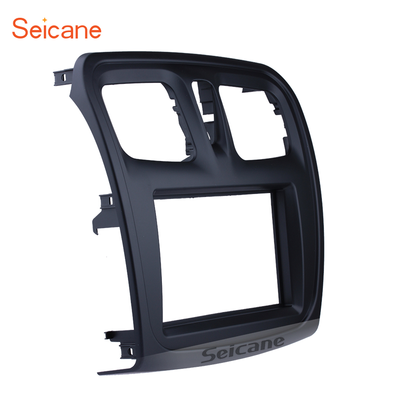 Seicane 2 din Car Radio Fascia Frame For 2015-2018 Renault Sandero Logan Installation Kit DVD Frame Panel Plate OEM Style