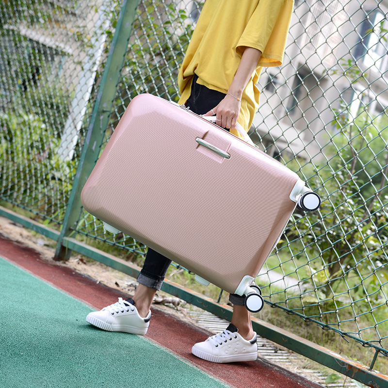 2 PCS/SET Suitcase Set With 14inch Cosmetic bag, Universal wheel Trolley Case Travel Luggage Woman Rolling Suitcase With Wheel