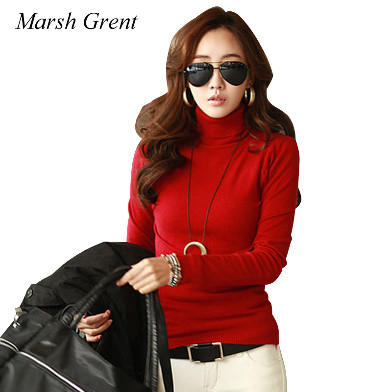 2018 winter Sweater for women Turtleneck Slim Stretch pullover sweaters keep warm baisc shirts red black