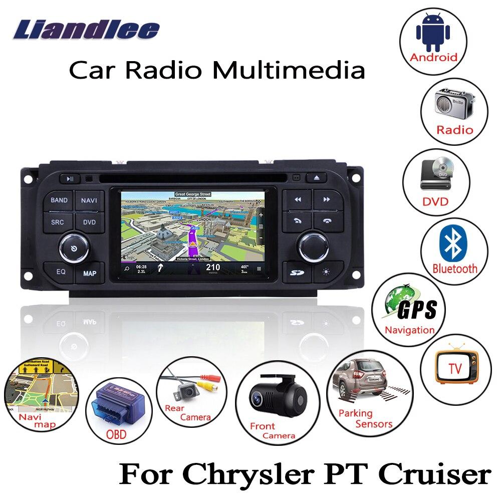 Liandlee pour Chrysler PT Cruiser 2001 ~ 2006 Android autoradio lecteur CD DVD GPS Navi Navigation cartes caméra OBD TV écran