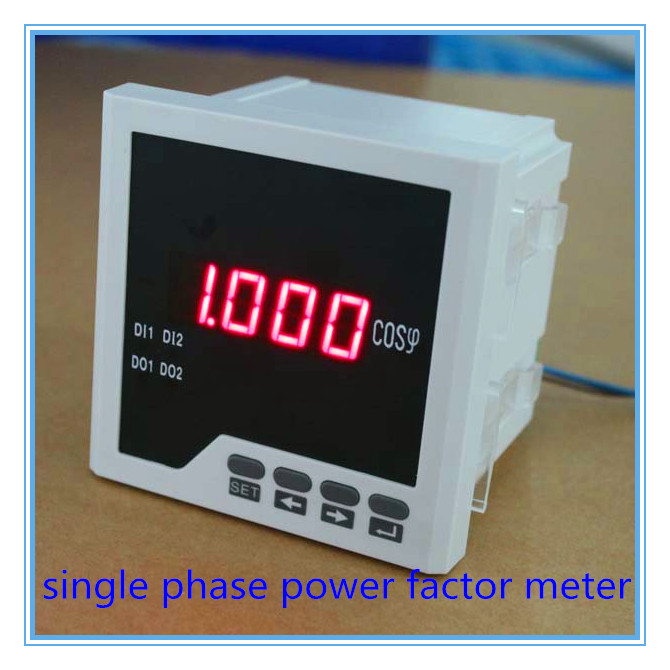 free shipping single phase COS meter LED digital power factor meters, power meters.industrial digital panel meters me 3h61 72 72mm led display 3 phase digital power factor meter support switch input and transmitting output